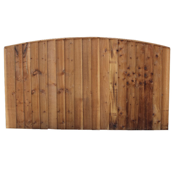 Vertical board round top panel